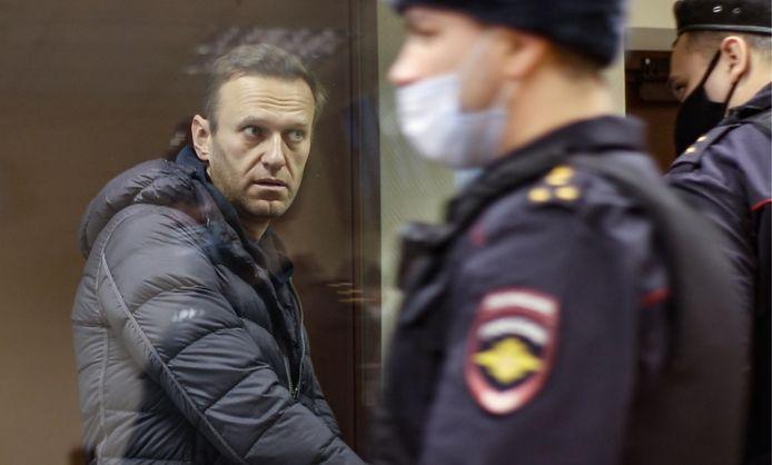 Aleksej Navalny werd na zijn aankomst in Rusland meteen gearresteerd door de politie.
