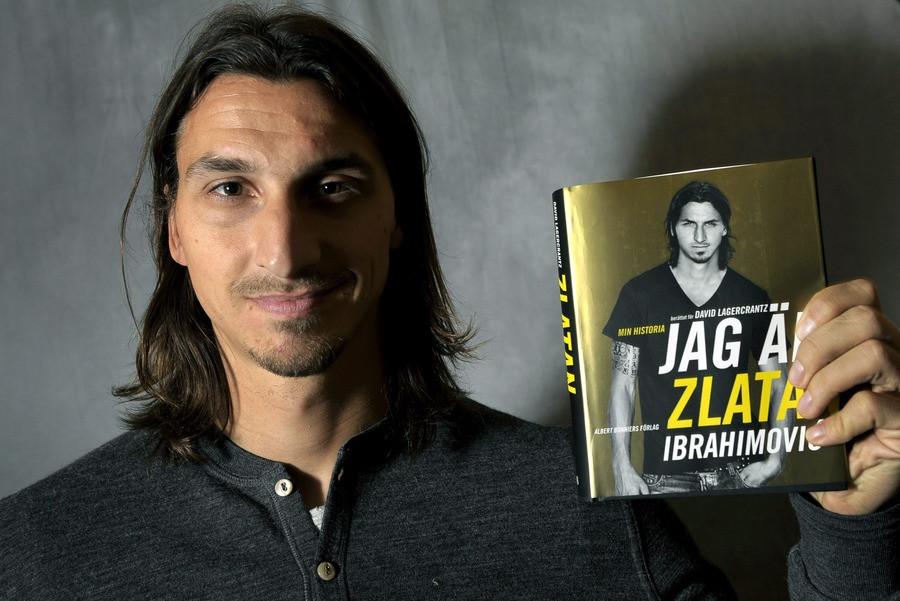 Zlatan Ibrahimovic en zijn biografie. © AFP
