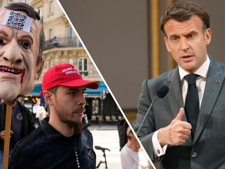 Druk op Macron neemt toe door demonstraties Frankrijk