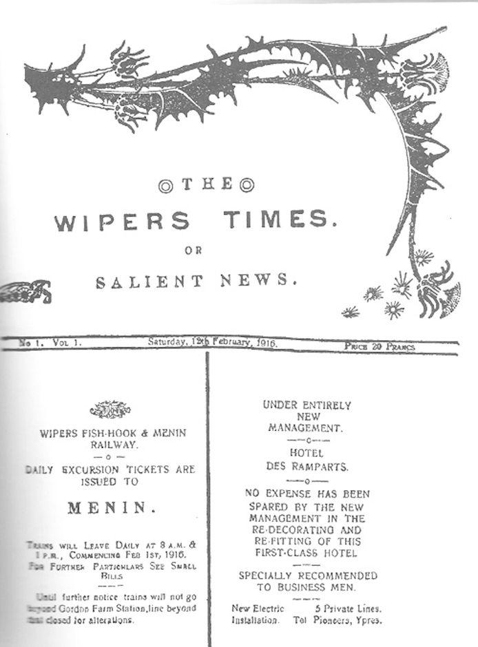 De naam van het bier Wipers Times verwijst naar een satirisch blad van de Britten dat in Ieper gemaakt werd tijdens WO I.