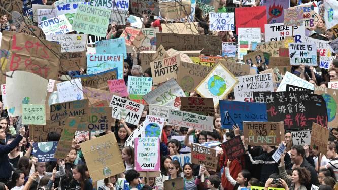 Klimaatmarsen wereldwijd: eerste honderdduizenden jongeren op straat om te protesteren