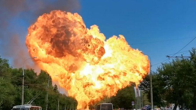 Enorme vuurbal van kilometers ver te zien na explosie in Rusland