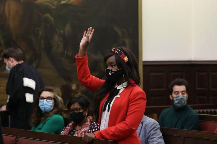 Cecile Djunga in de rechtbank.