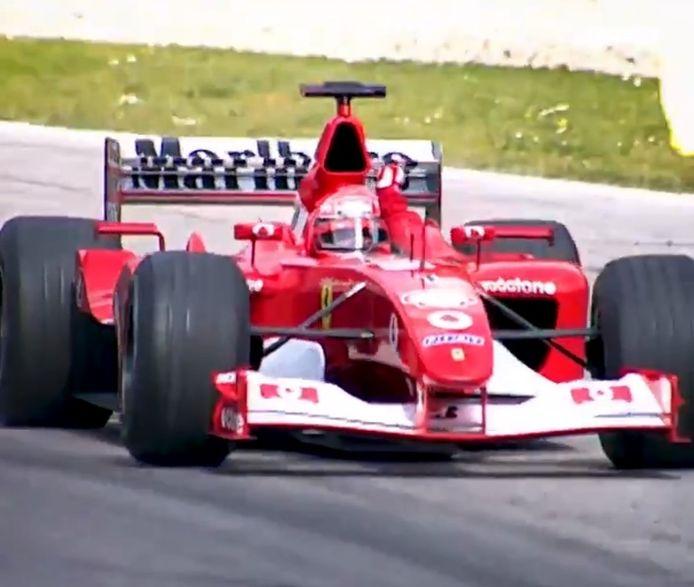 La F2002 de Michael Schumacher.