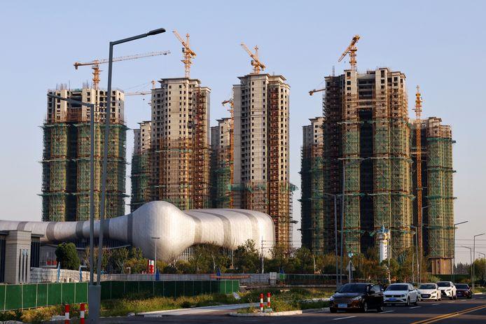 Gebouwen onder constructie van projectontwikkelaar Evergrande.