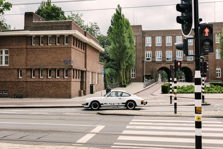 De voorkant van de woning op het Valeriusplein. Beeld Marc Driessen