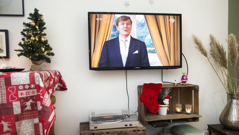 De kersttoespraak van koning Willem-Alexander trok meer dan 1,6 miljoen kijkers op verschillende zenders. Beeld anp