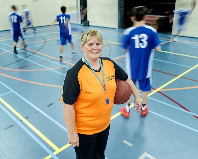 Sandra Donkersteeg van Roosendaalse Blauw Wit is trots op normen en waarden in basketbal. Foto Marcel otterspeer / Pix4profs