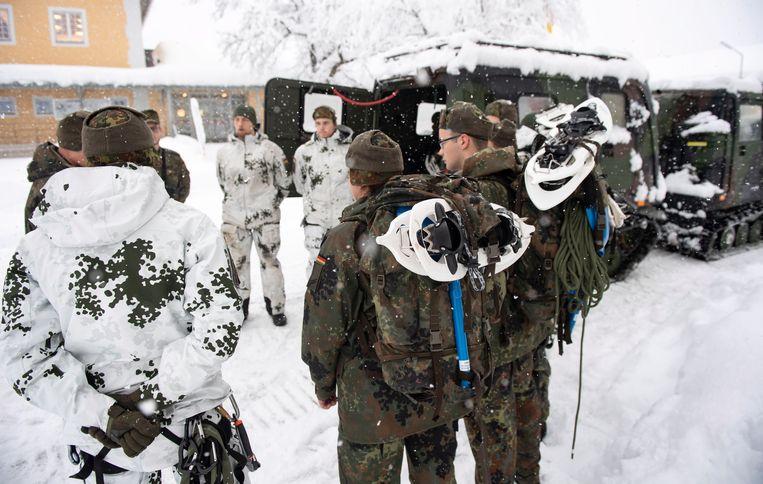 Duitse soldaten in Beieren. Beeld EPA