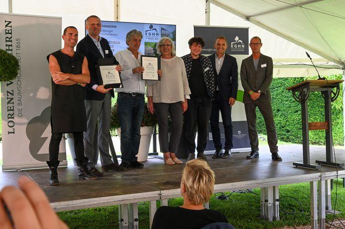 Prijsuitreiking van de European Garden Awards.