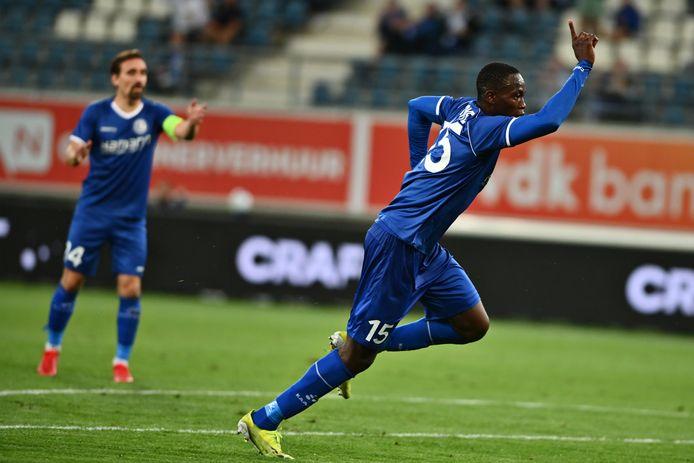 Oladoye viert z'n eerste doelpunt voor AA Gent.