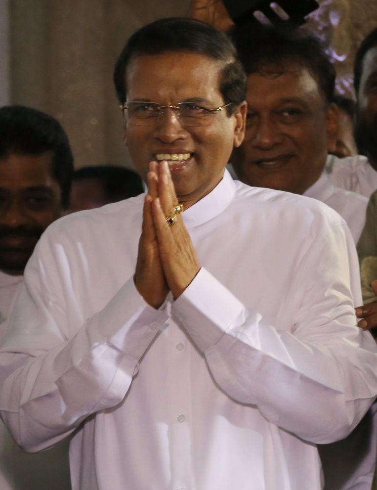 Maithripala Sirisena, president van Sri Lanka. Beeld EPA