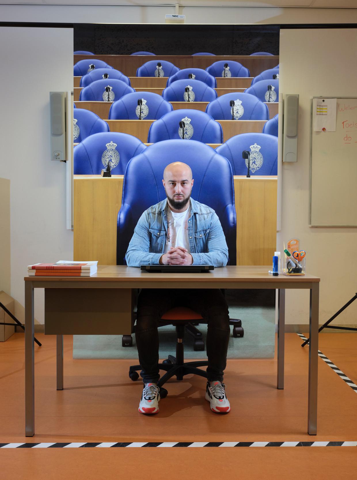 Ismail Aghzanay, docent in Rotterdam. maakt kans om Leraar van het het jaar te worden. Beeld Erik Smits