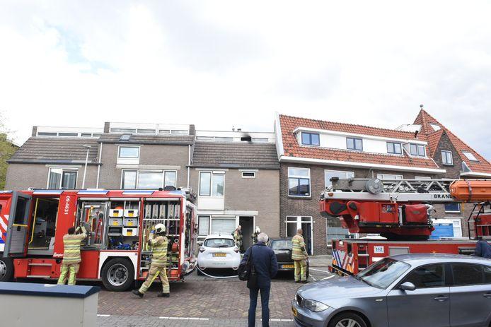 De brand woedde in een slaapkamer