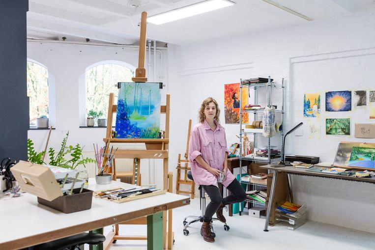 Anouschka van Wettum in haar atelier. Beeld Lars van den Brink