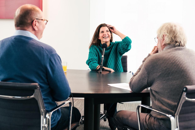Valerie Van Peel (N-VA) bij Polspoel & Desmet. Beeld Damon De Backer