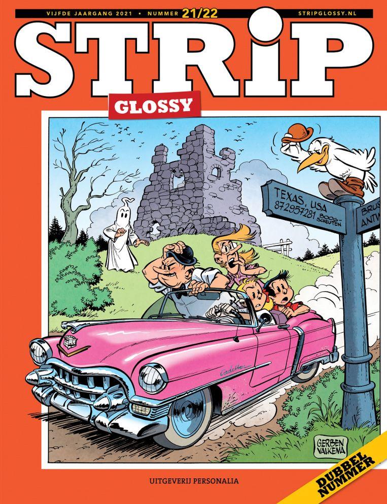 Themanummer van StripGlossy over Suske en Wiske. Beeld -