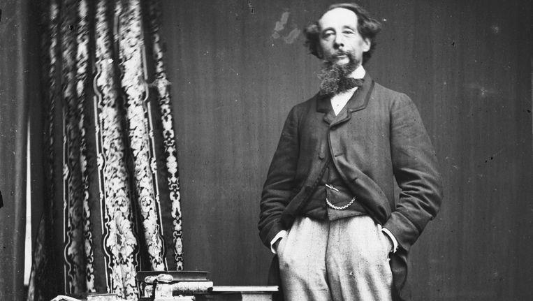 Een foto van Charles Dickens, genomen omstreeks 1860. Beeld GETTY