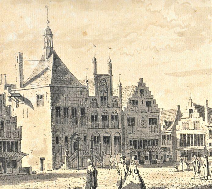 Amersfoorts eerste stadhuis, op de Hof.