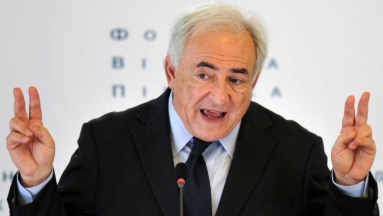 Voormalig IMF-topman Dominique Strauss-Kahn. Beeld afp