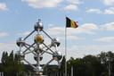 L'Atomium a également eu le droit à sa touche de jaune.