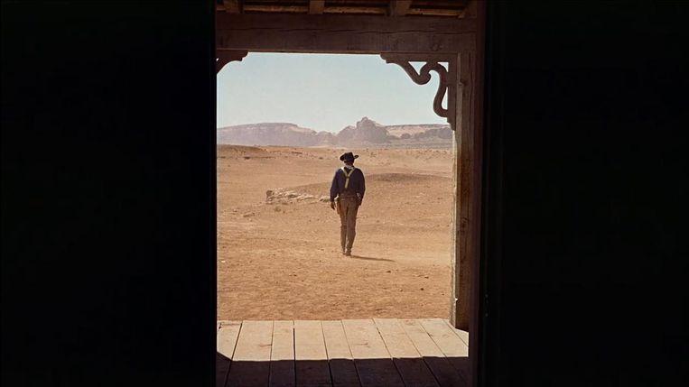 John Wayne in The Searchers van John Ford Beeld