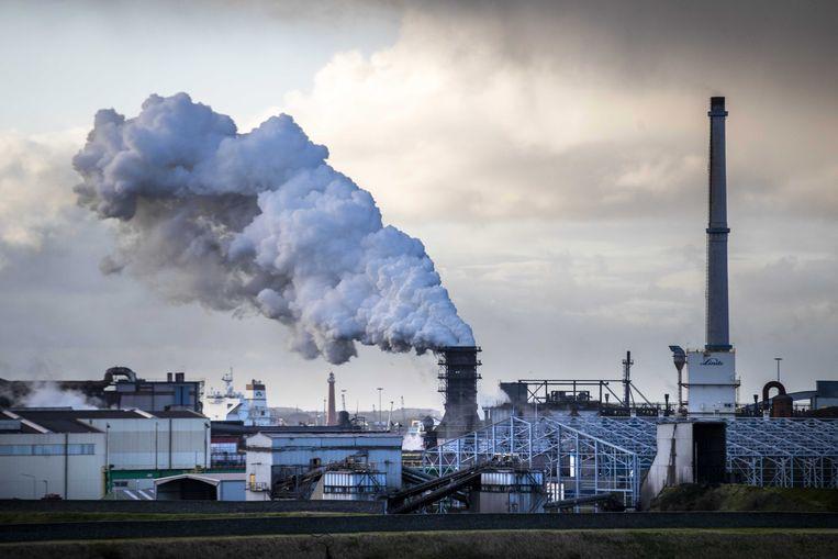 Tata Steel in IJmuiden.  Beeld Hollandse Hoogte / EPA