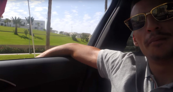 Rapper Boef in een van zijn vlogs.