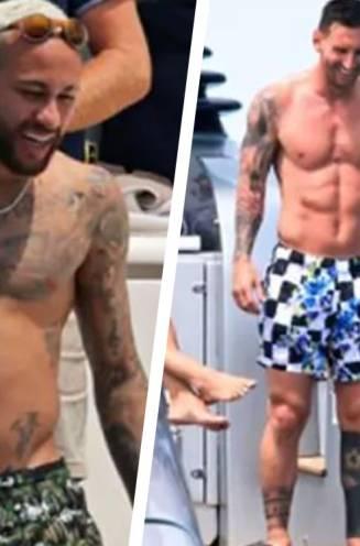 Neymar doet een Hazard'tje en zeker in contrast met Messi steekt dat pijnlijk af