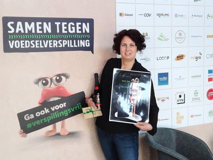 Barbara Jansen uit Veghel, in het zonnetje gezet door de gemeente Meierijstad