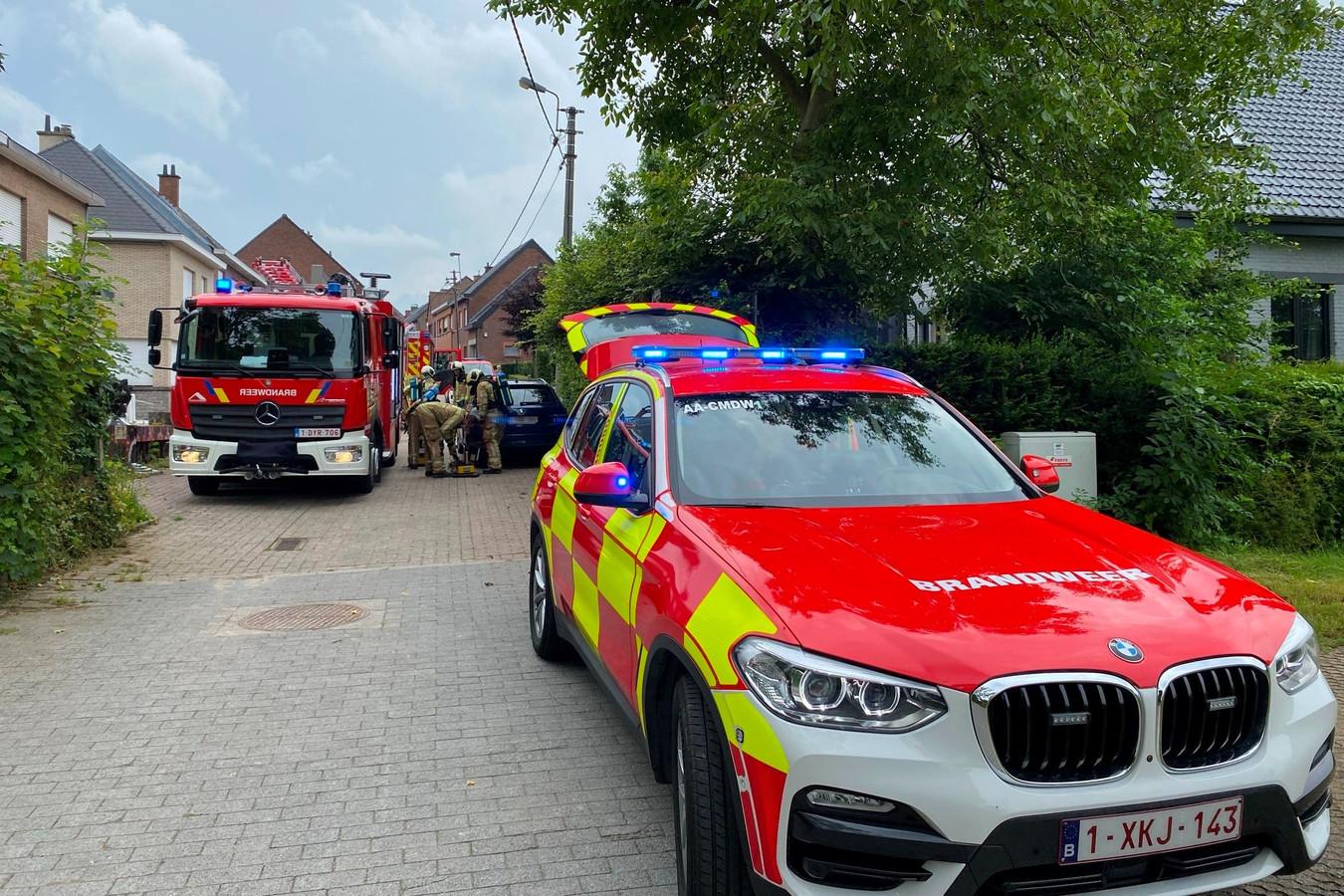 De noodcentrale stuurde brandweerwagens uit Aalst en Herzele naar 'de plank' in de Biezenstraat in Burst.