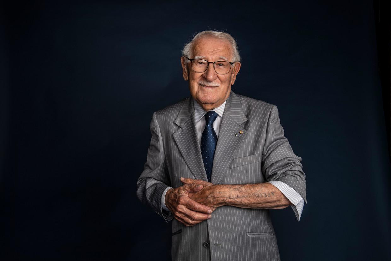 Auschwitz-overlever Eddie Jaku: 'Ik leef niet in het verleden. Ik heb mezelf bevrijd.'  Beeld Fairfax Media