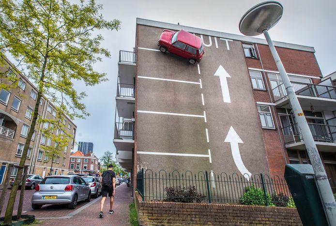 Het Otootje op de hoek Koningstraat-Westenbergstraat, een werk van Theo van Laar
