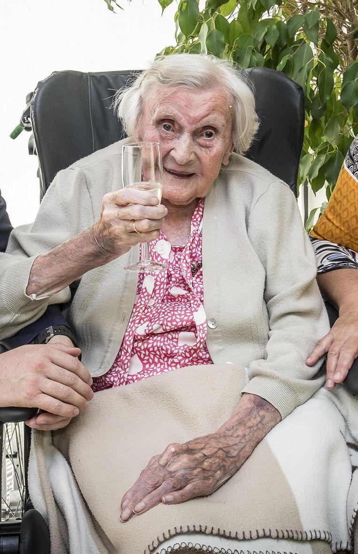 Magdalena Provoost op haar 103de verjaardag.
