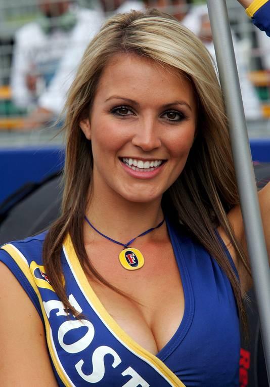 Een gridgirl bij de Grand Prix van Australië.
