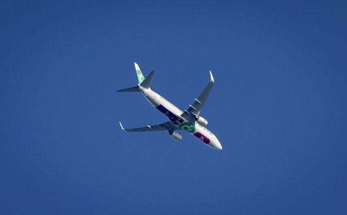 Het vliegtuig waarmee de belevingsvlucht werd uitgevoerd.