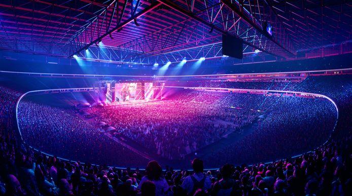 Het is een multifunctioneel stadion, waar grote events en concerten gehouden kunnen worden.