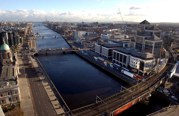 Dublin aan weerszijden van de rivier de Liffey. Beeld Bloomberg via Getty Images