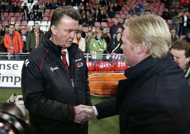 PSV tegen AZ in 2007, toen Koeman nog trainer van PSV was. Foto ANP Beeld