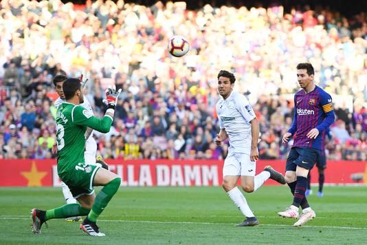 Lionel Messi in actie tegen Getafe.