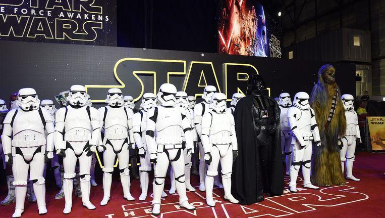 De première van 'Star Wars: The Force Awakens' in Londen. Beeld EPA