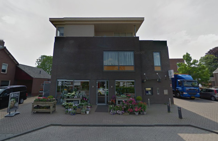 De pinautomaat van de Rabobank in Halle.