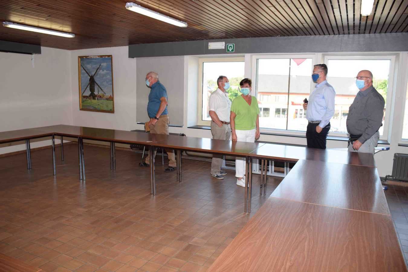 Ook de vergaderruimte in Miloheem onderging een metamorfose.