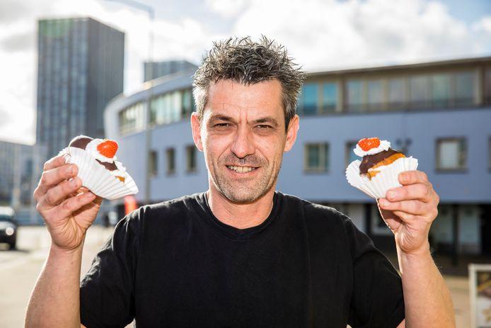 Jurgen Verwoerd van de veganistische banketbakkerij My Cakes in Monster.