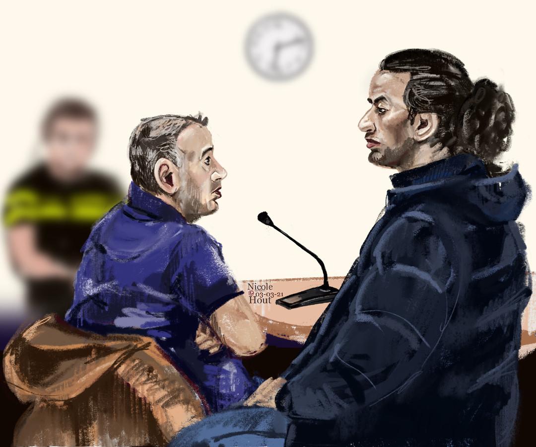 Aziz en Fatah A. tijdens een eerdere zitting in de zaak.