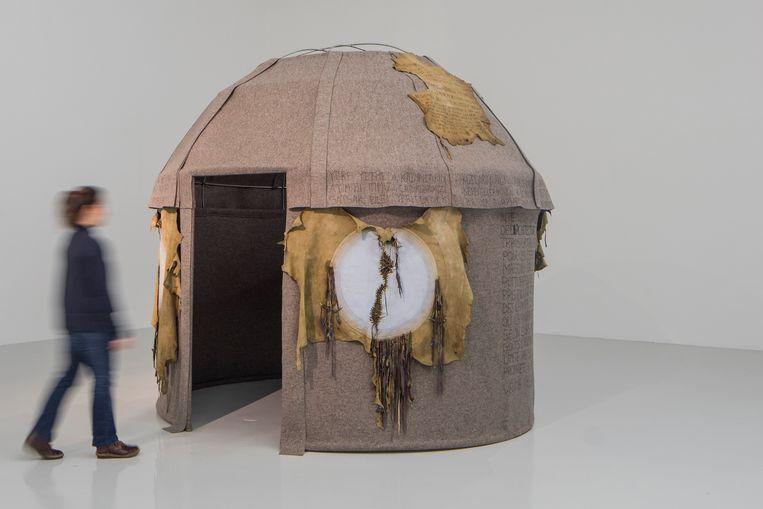 Nil Yalter, Topak Ev (Yurt) (1973) Beeld Eric Chenal, Santralistanbul Collection