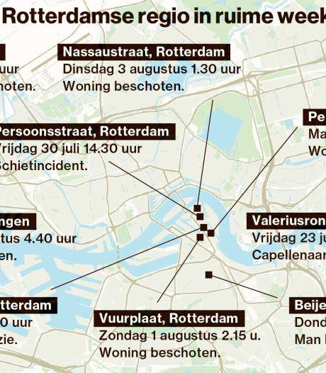 Dit zijn de schietpartijen in twaalf dagen tijd in de Rotterdamse regio: 'Zo snel mogelijk verhuizen'