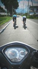 Wout van Aert en Remco Evenepoel gingen samen trainen voor de olympische tijdrit.