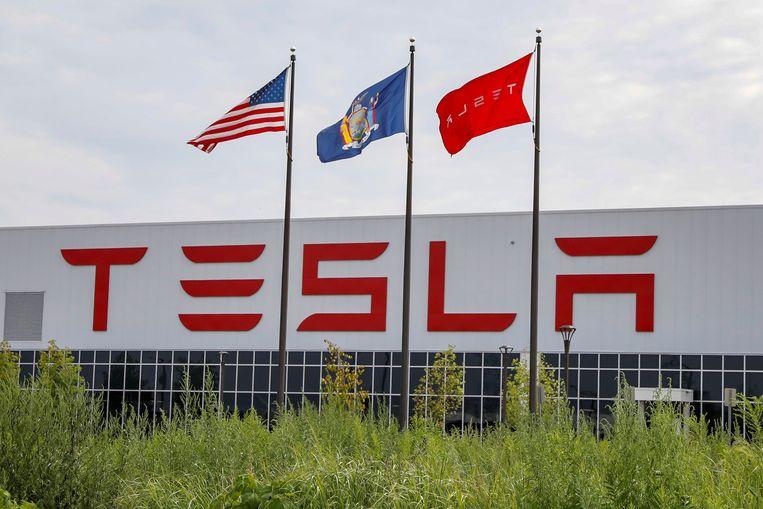 De Tesla-fabriek in Fremont. Beeld REUTERS