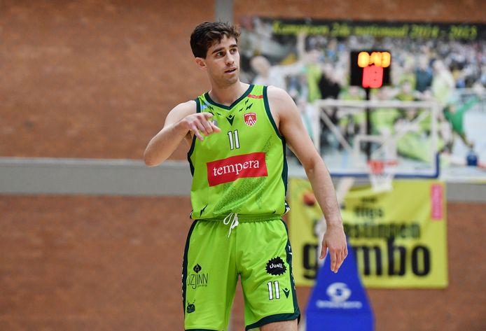 Gembo had het lange tijd moeilijk tegen Kontich Wolves. Rafaël Bogaerts (3x3) was goed voor 22 punten.